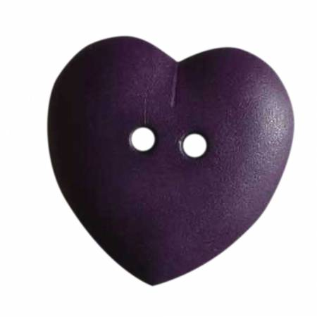 Eggplant 5/8in 2 Hole Heart Button