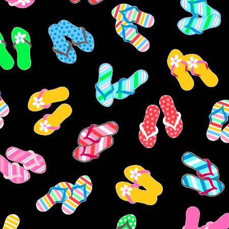 Black Flip Flops - 1228-99