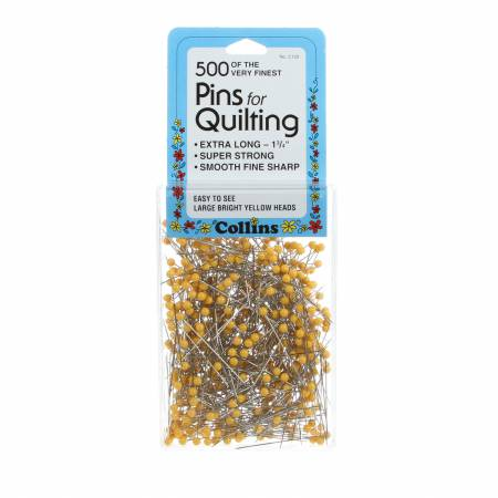 Quilting Yellow Head Pin Size 28 - 1 3/4in 500ct