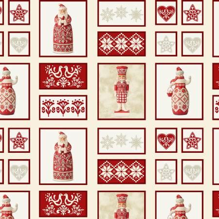 Nordic Noel 12308-07 Patch Cream Christmas