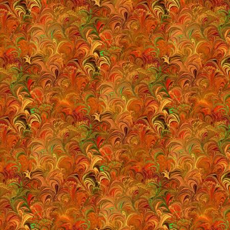 Poured Colour Orange Cosette - Paula Nadelstern