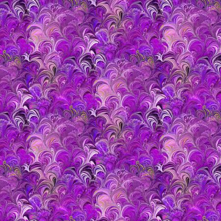 Poured Color - Violet/Multi Cosette