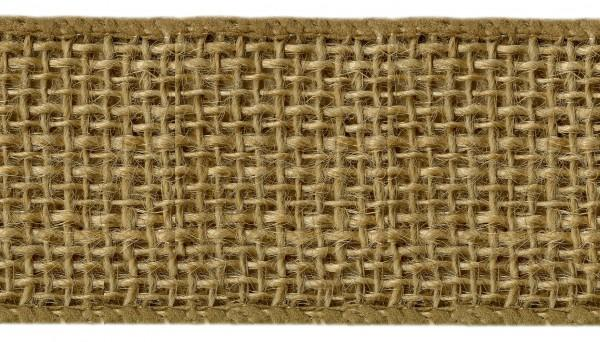 Burlap Wired Ribbon 2-1/2in X 10yds Natural