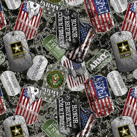 Military Dogtags Army (F10683)