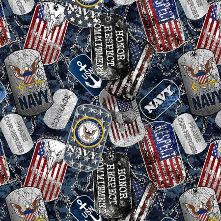 Military Dogtags Navy