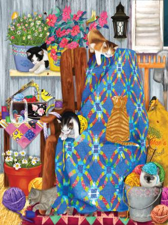 Porch Kittens Puzzle 1000pc
