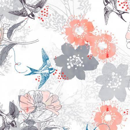 White Bird Floral