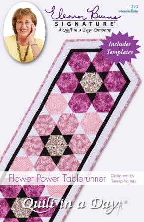 Flower Power Tablerunner Pattern by Quilt in a Day