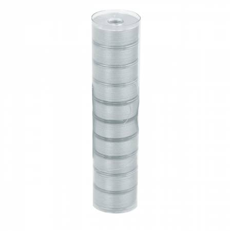 Clear-Quilt Pre-wound Class L 67yd Bobbins Light Gray 10 Count