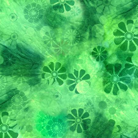 3 Wishes Green Tonal Floral Digitally Printed