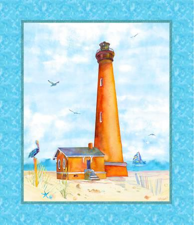 Blue Lighthouse Digitally Printed Panel