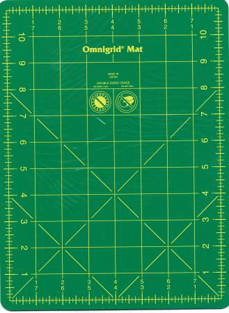 Cutting Mat Omnigrid Green with Yellow Grid 8-3/4in x 11-3/4in