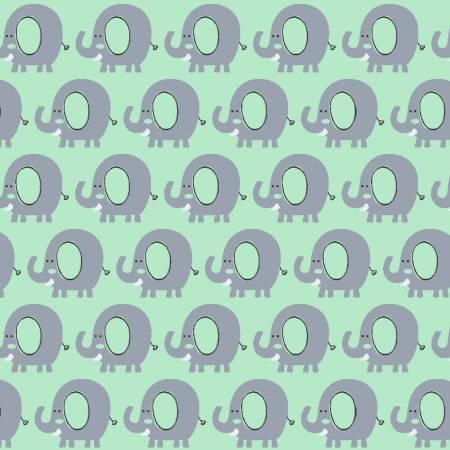 Min Elephant Flannel- Playful Cuties