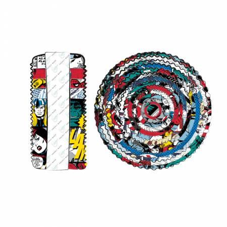 2-1/2in Strips Marvel Comic Pop Power 40pcs/bundle