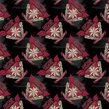 Camelot Fabrics - Captain Marvel - Black
