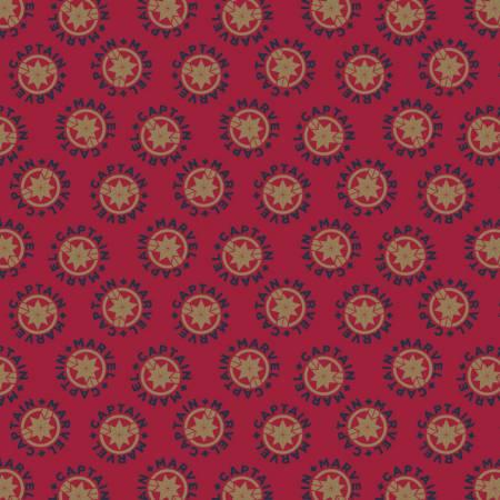 Camelot Fabrics - Captain Marvel Logo - Red