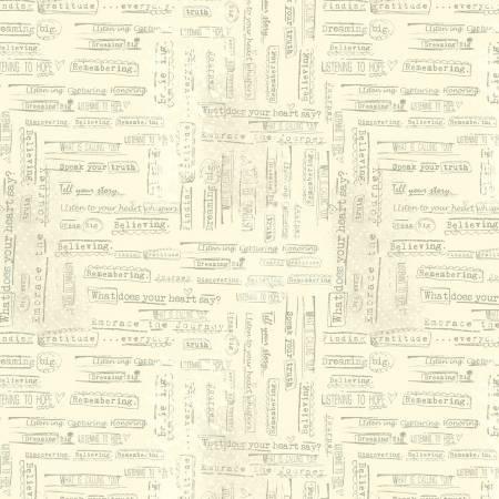 Light Yellow Words of Truth Digitally Printed