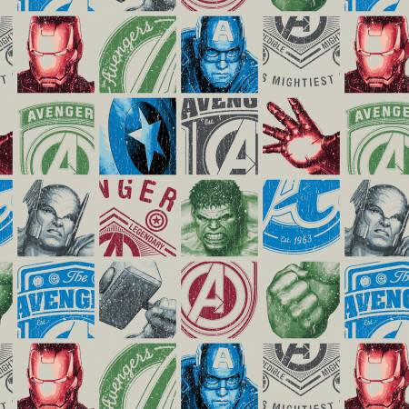 Cream Marvel Avengers Hero Blocks