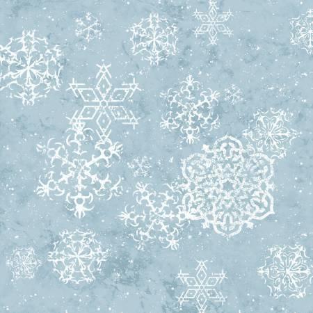 Henry Glass Sheltering Snowman 1311-11 Light Blue