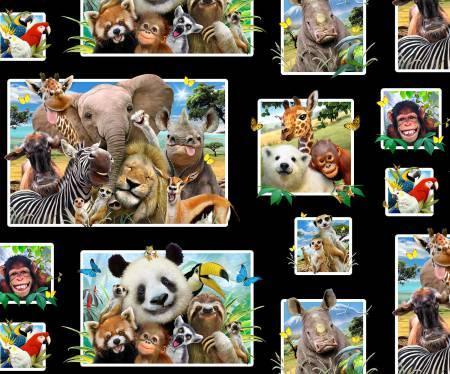 Black Zoo Selfies Panel