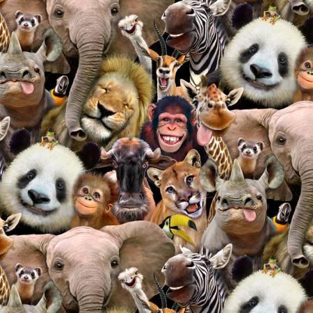 Multi Zoo Selfies Allover