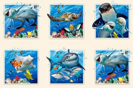 Cream Ocean Selfies Panel