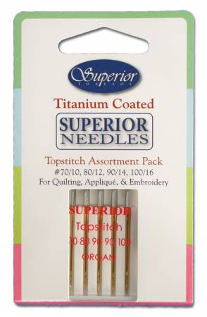 Superior Totpstitch Machine Needle Assortment Pack 5ct