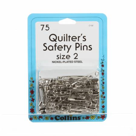 Quilting Safety Pin 1 1/2in Size 2 75ct