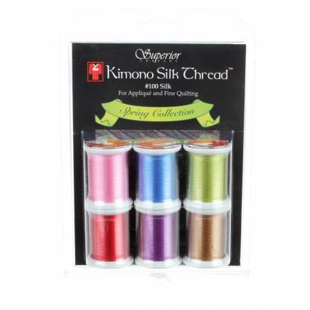 Kimono Silk Thread Set Spring Collection 6 Spools
