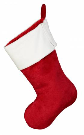 Plush Christmas Stocking Red