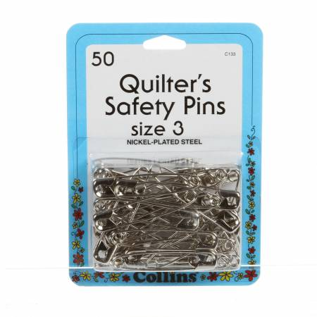 Quilting Safety Pin 50ct-nickel plated steel