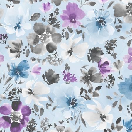 Wilmington Awakenings Large Floral - Soft Blue