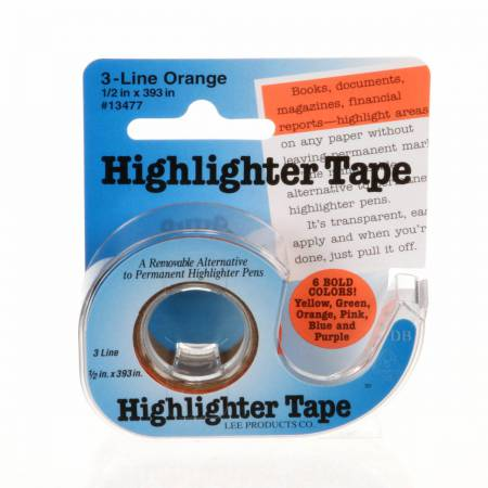 Removable Highlighter Tape 1/2in x 11yds Orange
