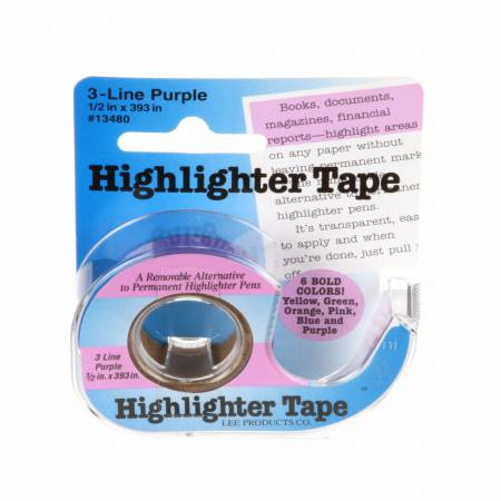 Removable Highlighter Tape 1/2in x 11yds Purple