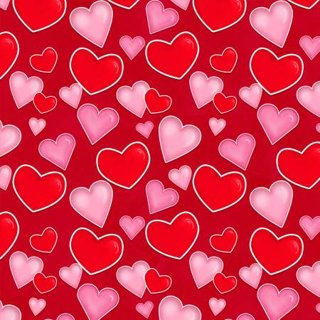 HG- Lovestruck Red Tossed Hearts