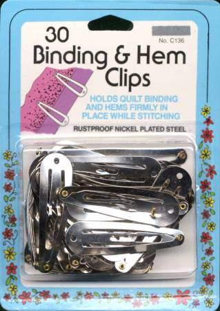 Binding & Hem Clips 30 ct