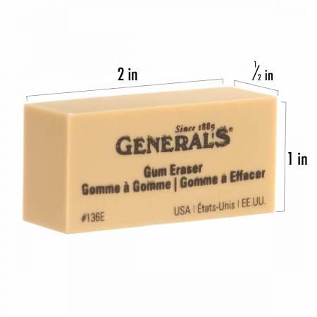 Latex Free Gum Erasers 2in x 1in