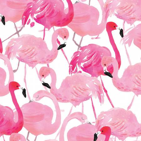 Tropicale Flamingo Packed on White