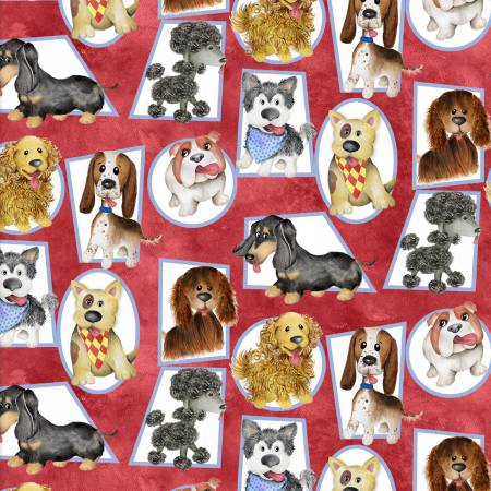 Puppy Pals Red Dogs in Frames