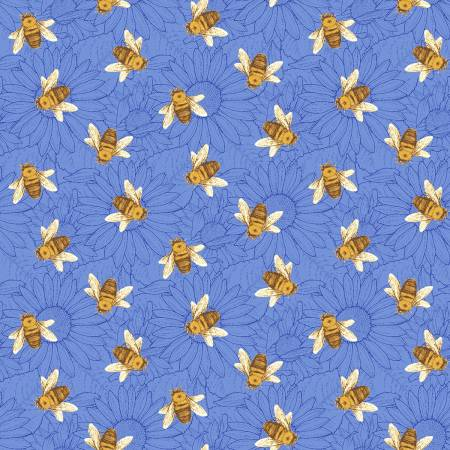 Blue Multi Tossed Bees