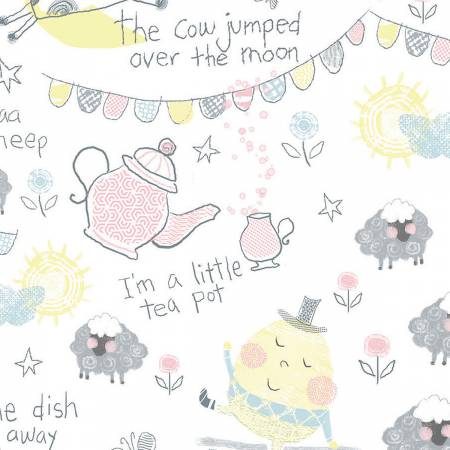 PLAYFUL CUTIES -White Nursery Rhymes on Flannel