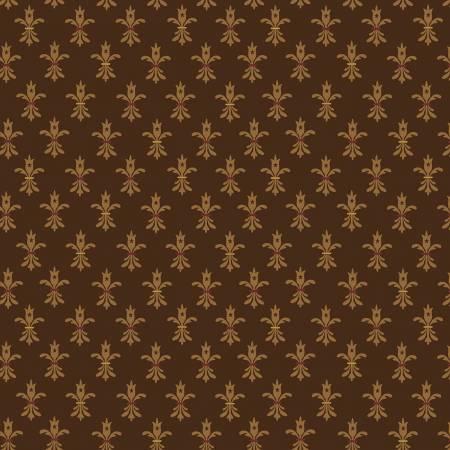 Brown Fleur-de-lis