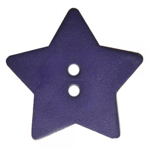 Dark Lilac 5/8in 2 Hole Star Button