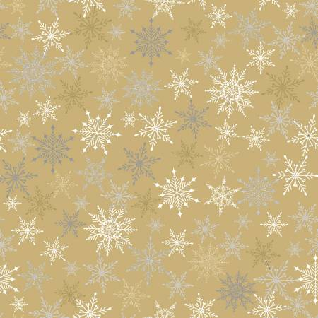 Quilter's Palette Gold/Silver Glitter Snowflakes