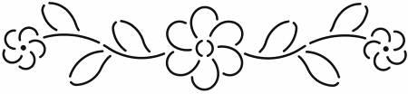Quilt Stencil Floral Border 11in x 3in