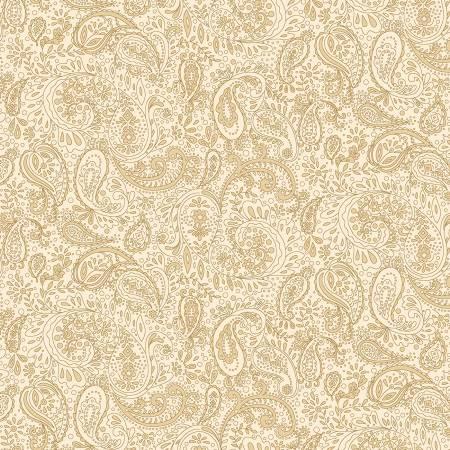 Butter Churn Basics Cream Small Paisley - 1444 - 44