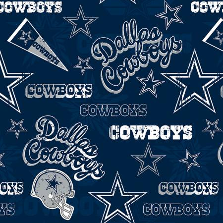 60 Cotton NFL Dallas Cowboys Stars & Helmuts