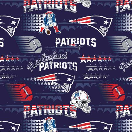 Blue New England Patriots by Fabric Traditions