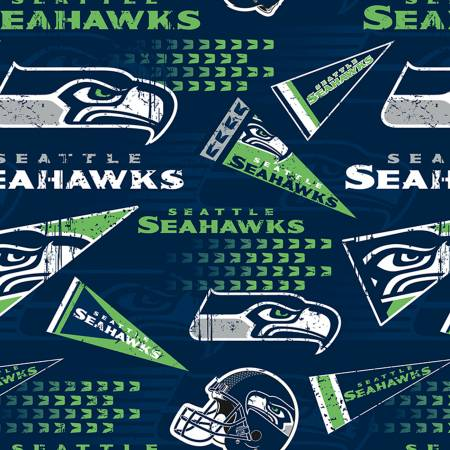 NFL Seattle Seahawks 14449-D Cotton Print 58-60 Wide