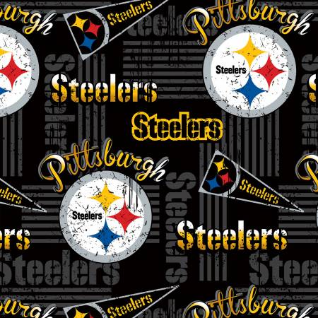 NFL  Pittsburgh Steelers 14450-D Cotton Print 58-60 Wide